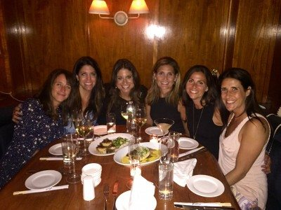Sisters from Alpha Tau-George Washington,  Class of 1995, gathered for a 25 year reunion.  From l to r:  Donna Morgan Wernick, Stacey Berman Rose, Stacey Eisenberg Adams, Lisa Berman Asher, Liza DiMedio Elkin, and Jennifer Greenblatt Korczak