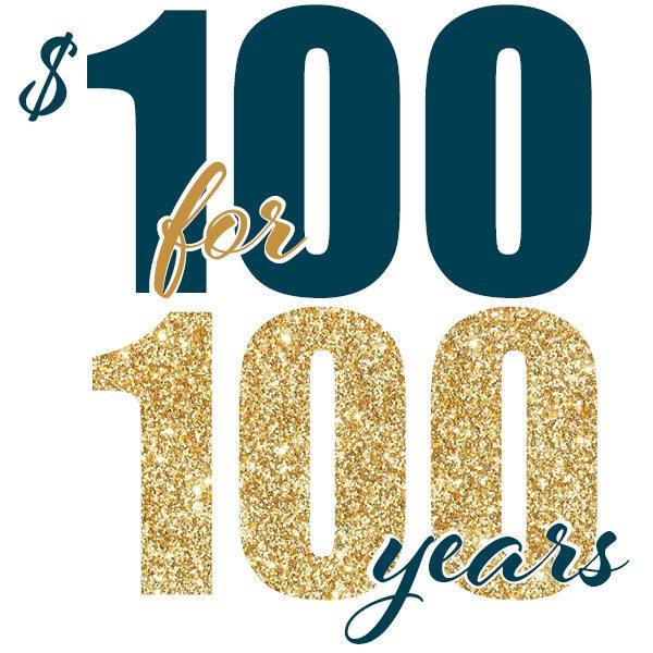 SDT Foundation 100for100 logo